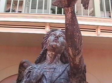 The figurehead at Disneyland